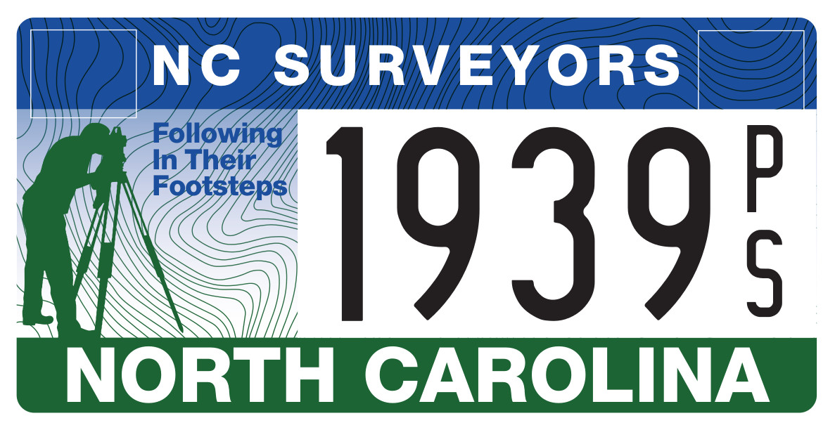 NC Surveyor DMV Plate